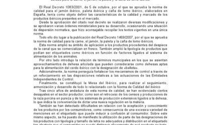 Ibérico wet en regelgeving 04/2014